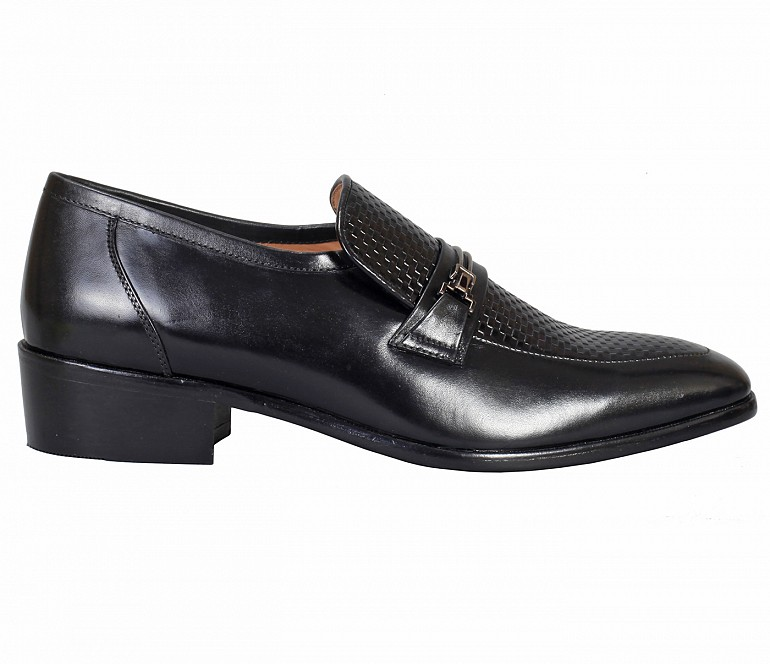 ADH30-Adamis Brown Color Pure Leather Footwear For Men- - Black
