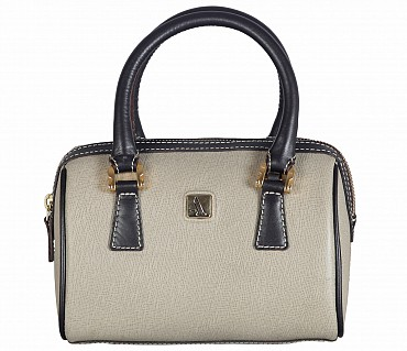 B821-Febe-Double Short handle cum Sling bag in Genuine Leather - Tope / Brown