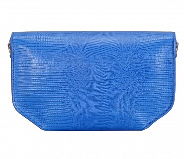 B838-Kristin-Evening bag in Genuine Leather - Blue