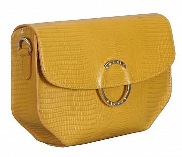 B838-Kristin-Evening bag in Genuine Leather - Mustard