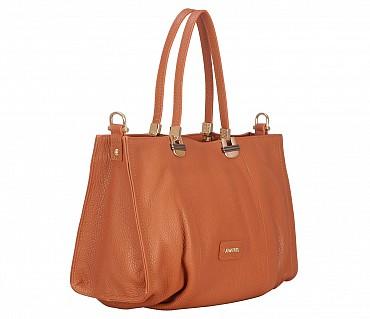 B851-Juliana-Totes in Genuine Leather - Tan