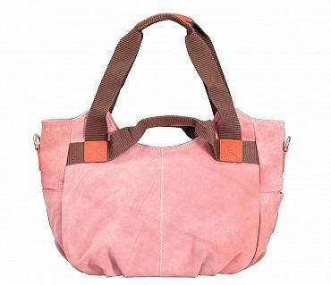 B857-Crisanta-Semi casual bag in Genuine Leather - Pink.
