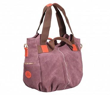 B857-Crisanta-Semi casual bag in Genuine Leather - Purple