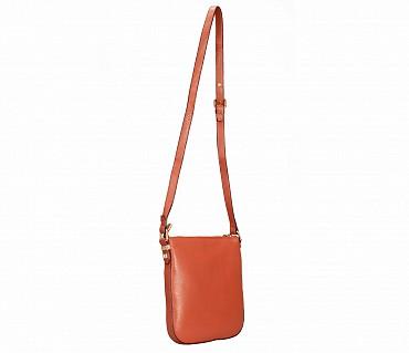 B859-Georgina-Sling cross body bag in Genuine Leather - Tan