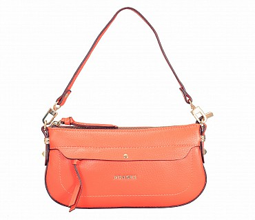 B860-Leocadia-Evening Bag in Genuine Leather - Orange
