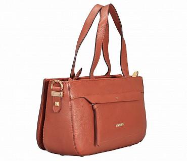 B861-Pamelia-Evening Bag in Genuine Leather - Tan