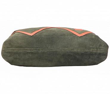 B862-Albira-Shoulder work bag in Genuine Leather - Green