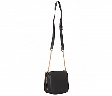 B863-Beatriz-Sling cross body bag in Genuine Leather - Black