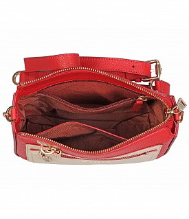 B863-Beatriz-Sling cross body bag in Genuine Leather - Red