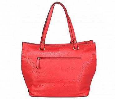 B867-Querida-Semi casual bag in Genuine Leather - Red