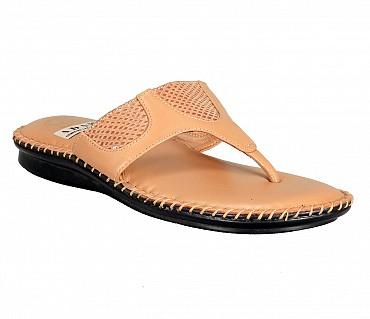 BB1-Adamis flat heels comfort wear slip on sandal in brown color- - Beige