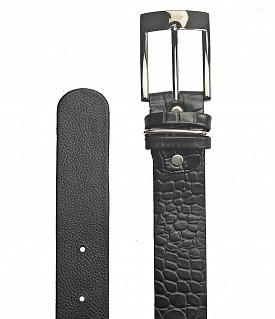 BL121--Men's Formal wear belt in Genuine Leather - Black