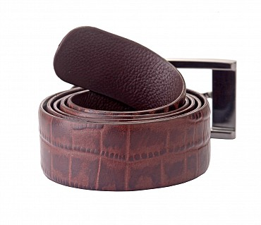 BL121--Men's Formal wear belt in Genuine Leather - Brown.