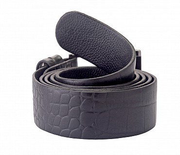 BL121--Men's Formal wear belt in Genuine Leather - Black