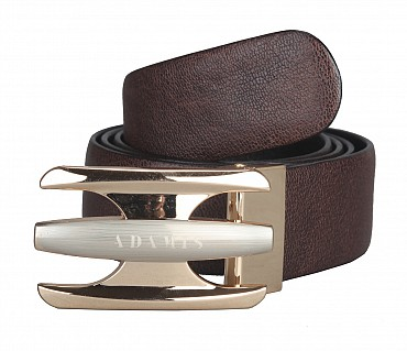 BL136--Men's reversible belt in Genuine Leather - Black/Brown