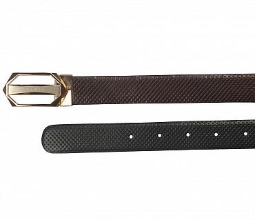 BL138--Men's reversible belt in Genuine Leather - Black/Brown