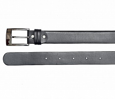 BL142--Men's Formal wear belt in Genuine Leather - Black
