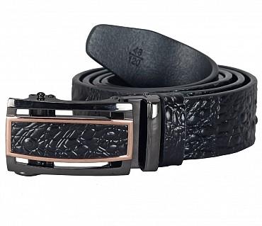 BL162--Men's stylish Casual wear belt in Genuine Leather - Black