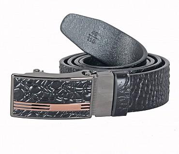 BL163--Men's stylish Casual wear belt in Genuine Leather - Black