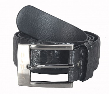 BL164--Men's Formal wear belt in Genuine Leather - Black