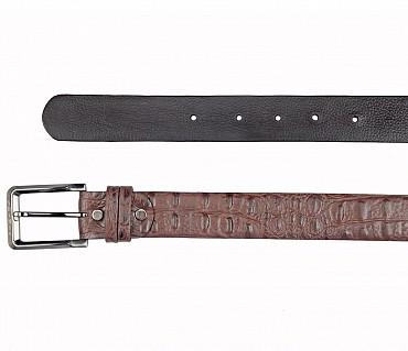 BL164--Men's Formal wear belt in Genuine Leather - Brown