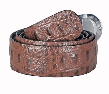 BL165--Men's reversible belt in Genuine Leather - Black/Brown