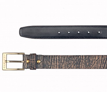 BL167--Men's stylish Casual wear belt in Genuine Leather - Brown.