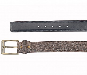BL169--Men's stylish Casual wear belt in Genuine Leather - Brown.