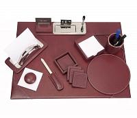 Leather Desk Set(Wine)DSK1