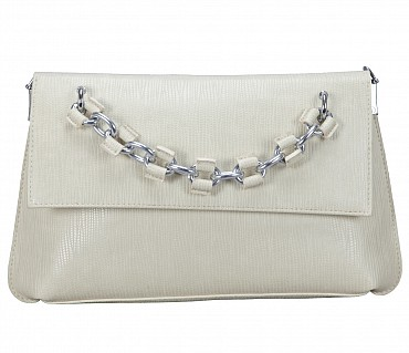 EB14-Walda Faux-Sling cross body bag in Faux Leather - Offwhite