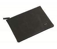 Leonardo Leather Laptop Sleeve / Folder(Black)F16