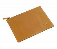 Leonardo Leather Laptop Sleeve / Folder(Tan)F16