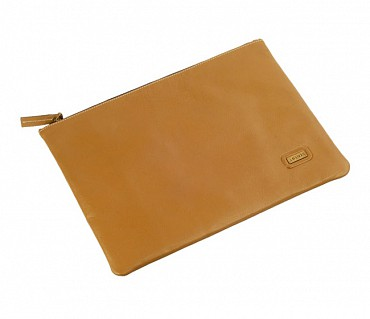 F16-Leonardo-Folder for documents in Genuine Leather - Tan