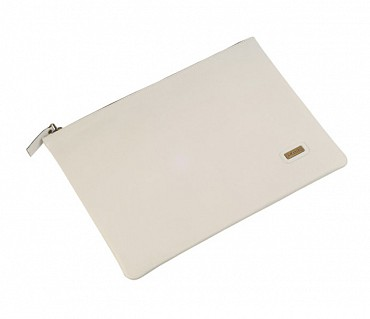 F16-Leonardo-Folder for documents in Genuine Leather - Icewhite