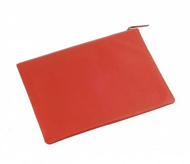F16-Leonardo-Folder for documents in Genuine Leather - Red