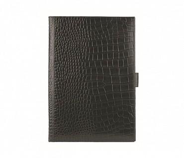 F24-Vasco-Sleek conference folder in Genuine Leather - Black