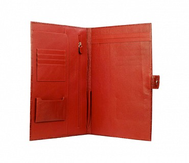 F24-Vasco-Sleek conference folder in Genuine Leather - Red