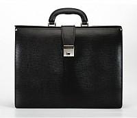 Paul Leather Portfolio / Laptop Bag(Black)F27