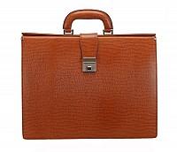 Paul Leather Portfolio / Laptop Bag(Tan)F27