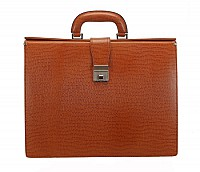 Paul Leather Portfolio / Laptop Bag(Tan)F27