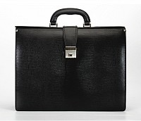 Paul Leather Portfolio / Laptop Bag(Black)F27