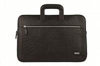 Vincento Leather Laptop Sleeve / Folder(Black)F48