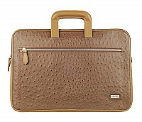 Vincento Leather Laptop Sleeve / Folder(Brown.)F48