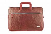 Vincento Leather Laptop Sleeve / Folder(Wine)F48