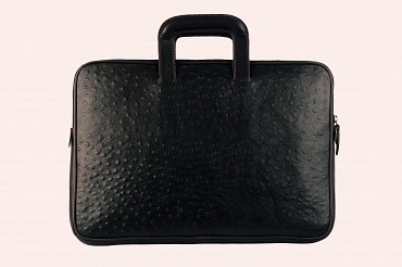 F48-Vincento-Folder for documents in Genuine Leather - Black