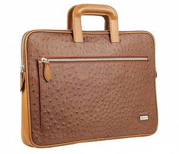 F48-Vincento-Folder for documents in Genuine Leather - Brown.