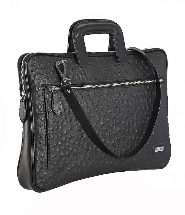 F48-Vincento-Folder for documents in Genuine Leather - Black