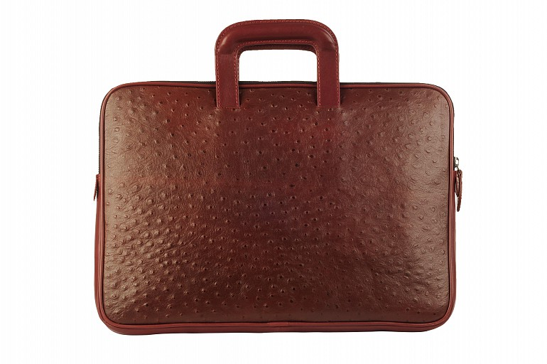 F48-Vincento-Folder for documents in Genuine Leather - Wine
