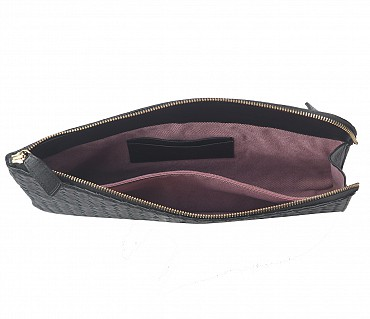 F58-Thomas -Folder for documents in Genuine Leather - Black