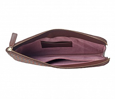 F58-Thomas -Folder for documents in Genuine Leather - Brown